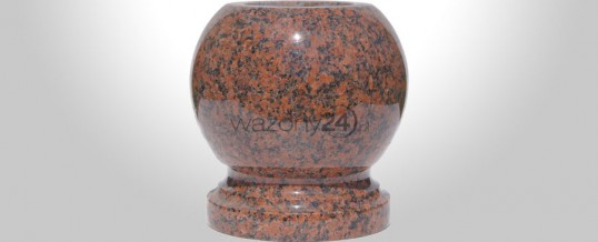 Kulowazon granitowy Balmoral Red