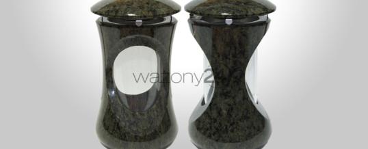 Lampion granitowy Verde Bahia