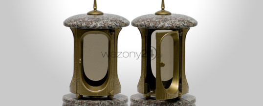 Lampion nagrobkowy Brąz Królewski